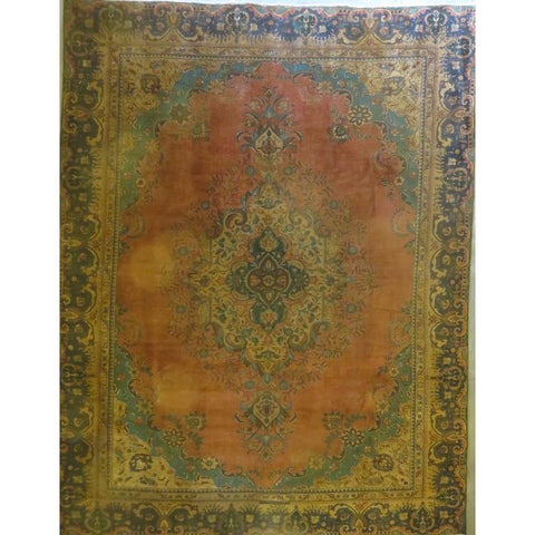 "Persian tabriz Authentic Hand-Knotted Traditonal Vintage Persian Rugs Natural Wool and Cotton Multicolor Area Rug  8'2""  X  5'2"" ABCR06751"