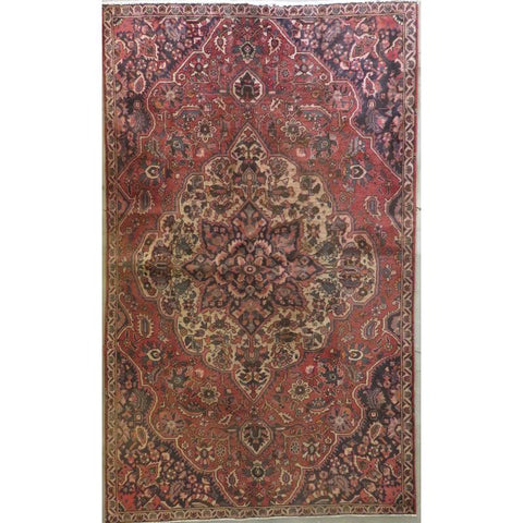 "Persian tabriz Authentic Hand-Knotted Traditonal Vintage Persian Rugs Natural Wool and Cotton Multicolor Area Rug  12'10""  X  9'2"" ABCR06753"