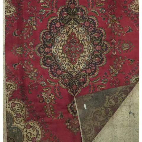 "Persian tabriz Authentic Hand-Knotted Traditonal Vintage Persian Rugs Natural Wool and Cotton Multicolor Area Rug  10'5""  X  7'7"" ABCR06762"