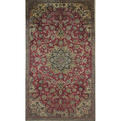 "Persian najafabad Authentic Hand-Knotted Traditonal Vintage Persian Rugs Natural Wool and Cotton Multicolor Area Rug  11'12""  X  8'10"" ABCR06770"