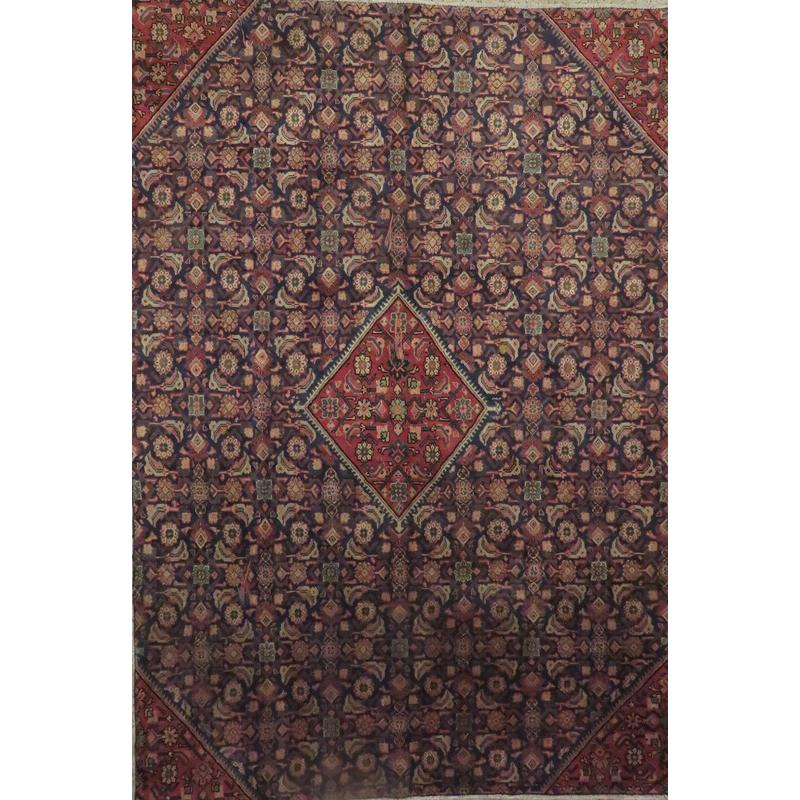"Persian mahal Authentic Hand-Knotted Traditonal Vintage Persian Rugs Natural Wool and Cotton Multicolor Area Rug  10'5""  X  7'7"" ABCR06772"
