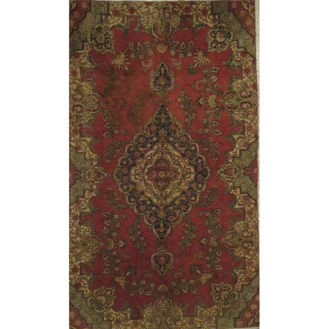 "Persian tabriz Authentic Hand-Knotted Traditonal Vintage Persian Rugs Natural Wool and Cotton Multicolor Area Rug  8'2""  X  6'0"" ABCR06779"