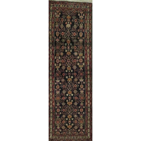 "Persian hamedan Authentic Hand-Knotted Traditonal Vintage Persian Rugs Natural Wool and Cotton Multicolor Area Rug  11'8"" X 9'3"" ABCR06782"