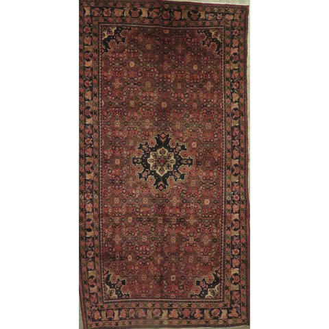 "Persian hamedan Authentic Hand-Knotted Traditonal Vintage Persian Rugs Natural Wool and Cotton Multicolor Area Rug  9'6""  X  5'3"" ABCR06800"