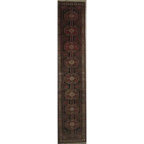 "Persian hamedan Authentic Hand-Knotted Traditonal Vintage Persian Rugs Natural Wool and Cotton Multicolor Area Rug  8'4""  X  2'6"" ABCR06802"