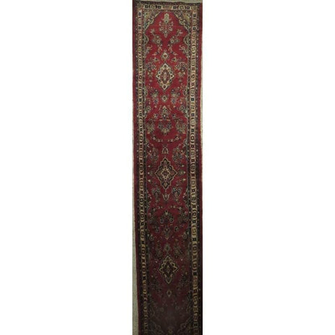 "Persian hamedan Authentic Hand-Knotted Traditonal Vintage Persian Rugs Natural Wool and Cotton Multicolor Area Rug  10'1""  X  2'4"" ABCR06806"