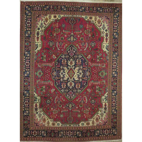 "Persian mashad Authentic Hand-Knotted Traditonal Vintage Persian Rugs Natural Wool and Cotton Multicolor Area Rug  12'4""  X  4'12""  ABCR06809"