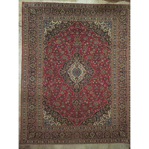 "Persian mahal Authentic Hand-Knotted Traditonal Vintage Persian Rugs Natural Wool and Cotton Multicolor Area Rug  16'5""  X  11'7"" ABCR06810"