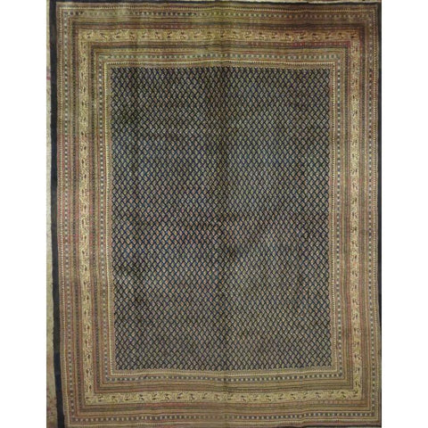 "Persian ardakan Authentic Hand-Knotted Traditonal Vintage Persian Rugs Natural Wool and Cotton Multicolor Area Rug  11'4""  X  8'5"" ABCR06812"