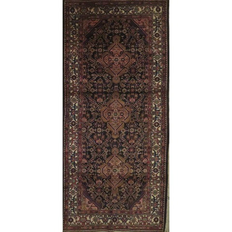 "Persian hamedan Authentic Hand-Knotted Traditonal Vintage Persian Rugs Natural Wool and Cotton Multicolor Area Rug  13'5""  X  9'6""  ABCR06817"