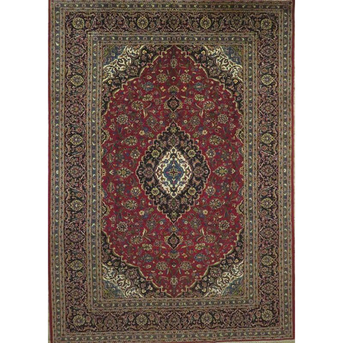"Persian ardakan Authentic Hand-Knotted Traditonal Vintage Persian Rugs Natural Wool and Cotton Multicolor Area Rug  9'3""  X  7'5"" ABCR06819"