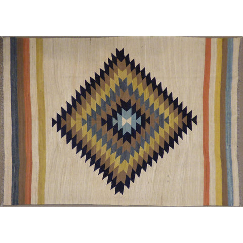"One of the kind vegetable dye Afghan Kilim Maimana Hand Knotted    9'0""  X  6'3""  ABCKA0148"
