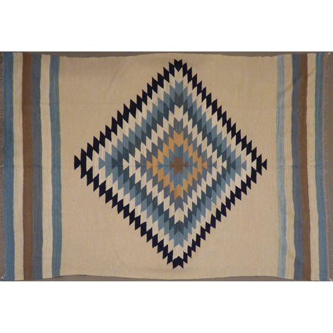 "One of the kind vegetable dye Afghan Kilim Maimana Hand Knotted    9'6""  X  6'2""  ABCKA0151"