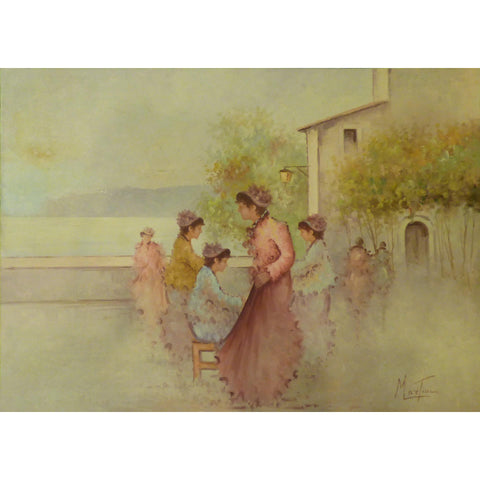 "Painting Canvas Wall Art French Oil Painting MABCtilli Ready to Hang for Home Wall Art Decoration  50""  X 70"" ABCP-203"