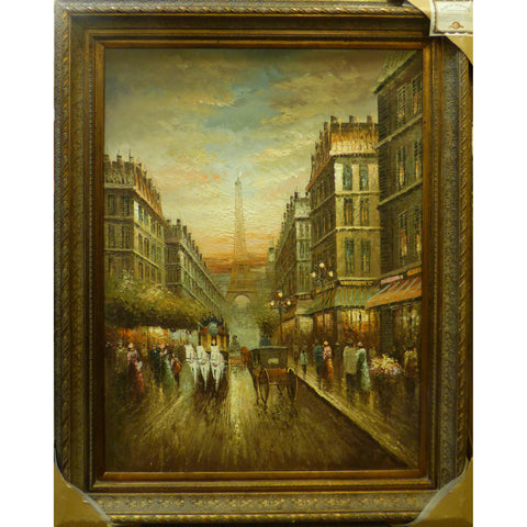 "Spanish Oil Painting by Roberto Ready to Hang for Home Wall Art Decoration  47""  X  52"" ABCP-272"