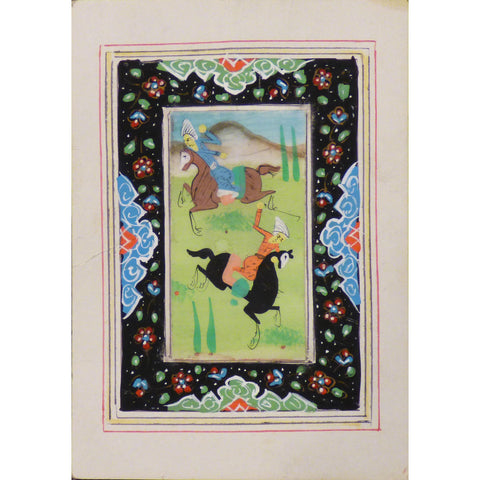 "Persian Miniature Handmade with Unique Design and Colorful Authentic ART  3.5""  X  5"" ABCPM0101"