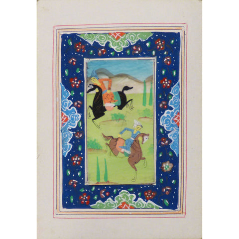 "Persian Miniature Handmade with Unique Design and Colorful Authentic ART  3.5""  X  5"" ABCPM0102"
