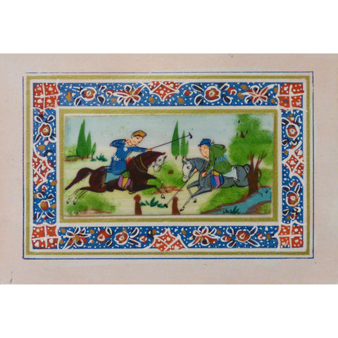 "Persian Miniature Handmade with Unique Design and Colorful Authentic ART  3.5""  X  5"" ABCPM0104"
