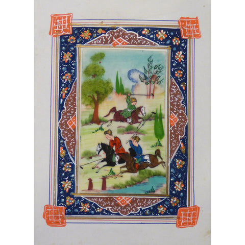 "Persian Miniature Handmade with Unique Design and Colorful Authentic ART  5""  X  7"" ABCPM0106"