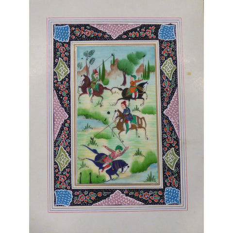 "Persian Miniature Handmade with Unique Design and Colorful Authentic ART  7""  X  9.5"" ABCPM0110"