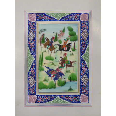"Persian Miniature Handmade with Unique Design and Colorful Authentic ART  7""  X  9.5"" ABCPM0113"