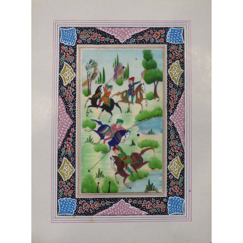 "Persian Miniature Handmade with Unique Design and Colorful Authentic ART  7""  X  9.5"" ABCPM0114"