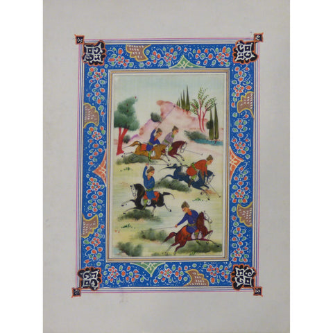 "Persian Miniature Handmade with Unique Design and Colorful Authentic ART  7""  X  9.5"" ABCPM0118"