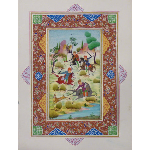 "Persian Miniature Handmade with Unique Design and Colorful Authentic ART  7""  X  9.5"" ABCPM0121"