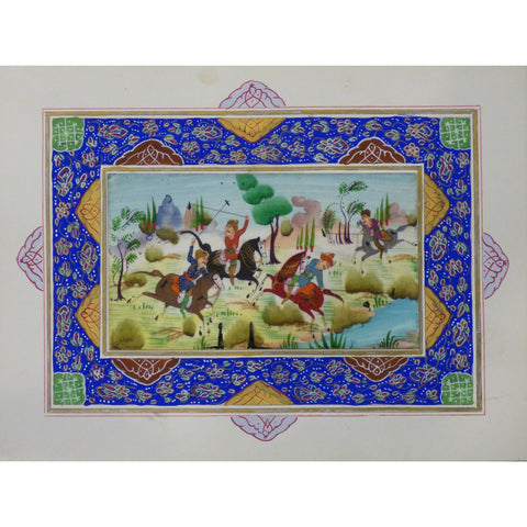 "Persian Miniature Handmade with Unique Design and Colorful Authentic ART  7""  X  9.5"" ABCPM0123"