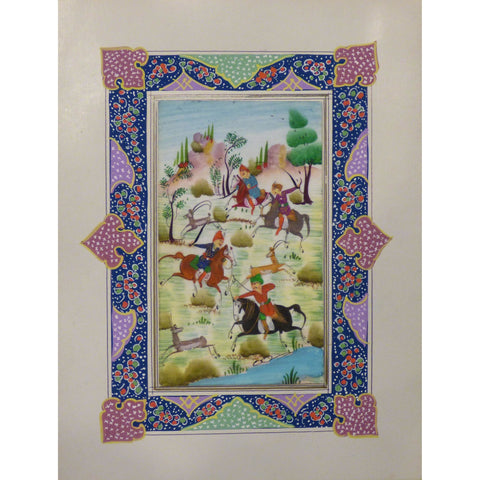 "Persian Miniature Handmade with Unique Design and Colorful Authentic ART  7""  X  9.5"" ABCPM0125"