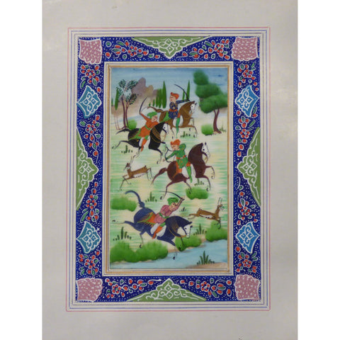 "Persian Miniature Handmade with Unique Design and Colorful Authentic ART  7""  X  9.5"" ABCPM0126"