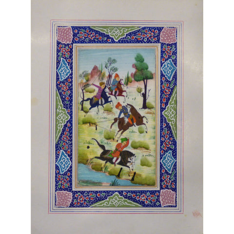 "Persian Miniature Handmade with Unique Design and Colorful Authentic ART  7""  X  9.5"" ABCPM0127"