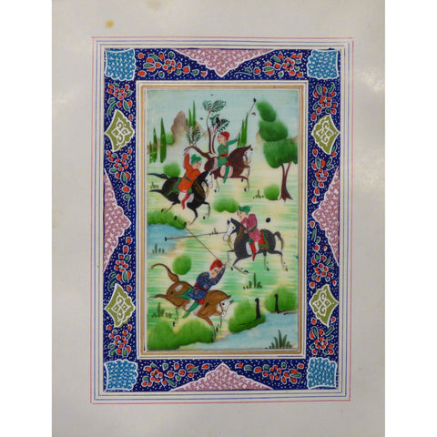 "Persian Miniature Handmade with Unique Design and Colorful Authentic ART  7""  X  9.5"" ABCPM0128"