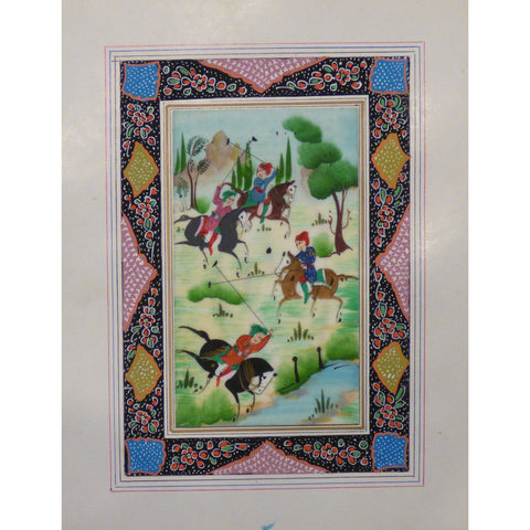 "Persian Miniature Handmade with Unique Design and Colorful Authentic ART  7""  X  9.5"" ABCPM0130"