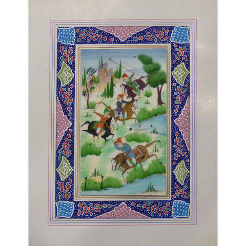 "Persian Miniature Handmade with Unique Design and Colorful Authentic ART  7""  X  9.5"" ABCPM0133"