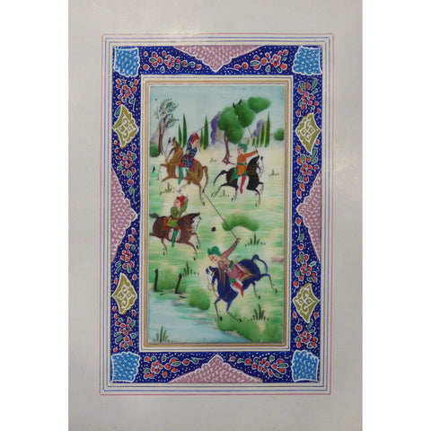 "Persian Miniature Handmade with Unique Design and Colorful Authentic ART  7""  X  9.5"" ABCPM0135"