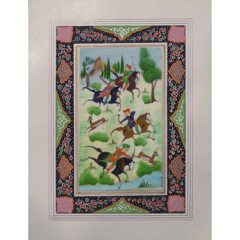 "Persian Miniature Handmade with Unique Design and Colorful Authentic ART  7""  X  9.5"" ABCPM0138"