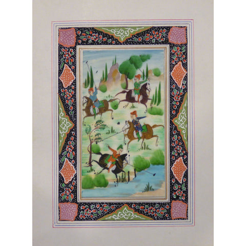"Persian Miniature Handmade with Unique Design and Colorful Authentic ART  7""  X  9.5"" ABCPM0142"