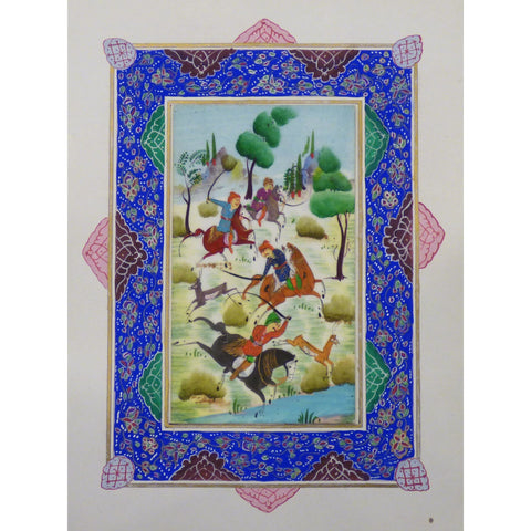 "Persian Miniature Handmade with Unique Design and Colorful Authentic ART  7""  X  9.5"" ABCPM0145"