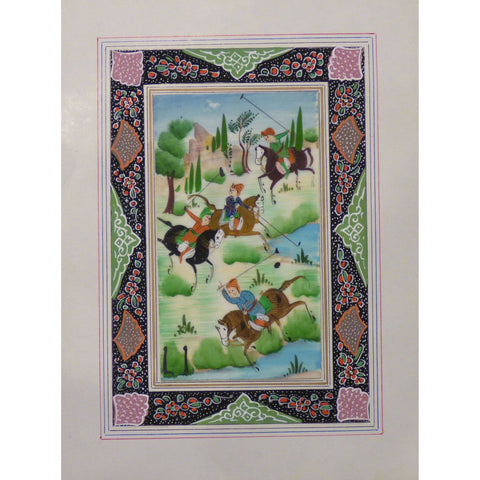 "Persian Miniature Handmade with Unique Design and Colorful Authentic ART  7""  X  9.5"" ABCPM0146"