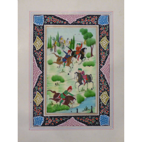 "Persian Miniature Handmade with Unique Design and Colorful Authentic ART  7""  X  9.5"" ABCPM0147"
