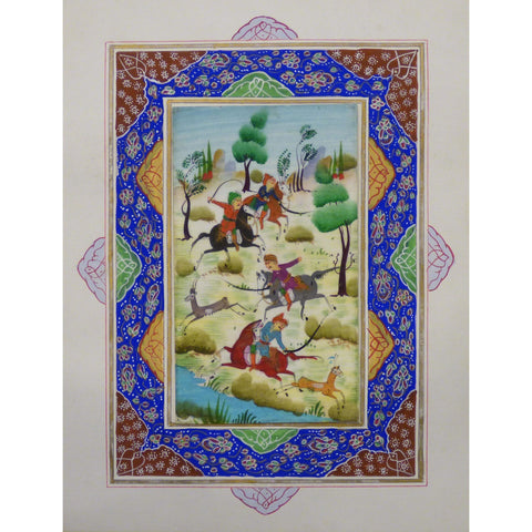 "Persian Miniature Handmade with Unique Design and Colorful Authentic ART  7""  X  9.5"" ABCPM0149"