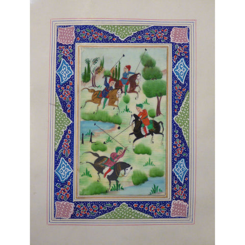 "Persian Miniature Handmade with Unique Design and Colorful Authentic ART  7""  X  9.5"" ABCPM0151"