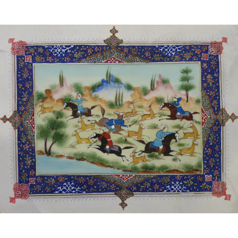 "Persian Miniature Handmade with Unique Design and Colorful Authentic ART  8""  X  10.5"" ABCPM0153"