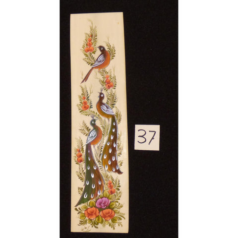 "Persian wall art miniature on bone painting fine art Handmade Ready for Home Decoration  9""  X  2"" ABCPM0190"