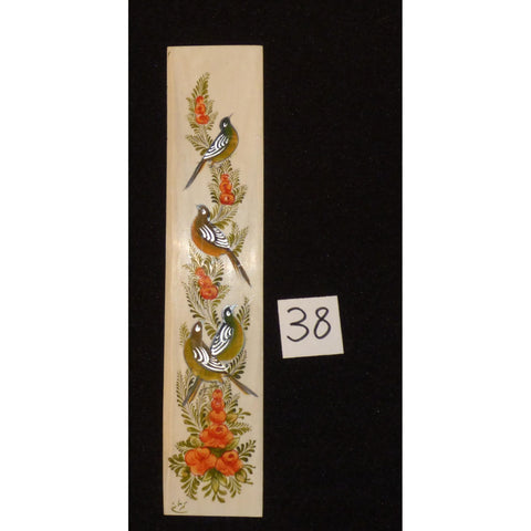 "Persian wall art miniature on bone painting fine art Handmade Ready for Home Decoration  9""  X  2"" ABCPM0191"