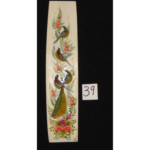 "Persian wall art miniature on bone painting fine art Handmade Ready for Home Decoration  9""  X  2"" ABCPM0192"