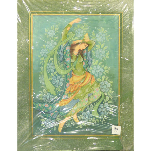 "Persian Miniature Fine Art Handmade Painting Ready to Hang for Home Wall Art Decoration  14""  X  18"" ABCPM0252"