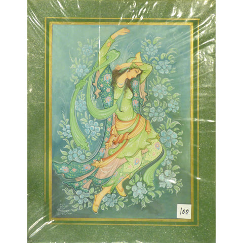 "Persian Miniature Fine Art Handmade Painting Ready to Hang for Home Wall Art Decoration  14""  X  18"" ABCPM0253"