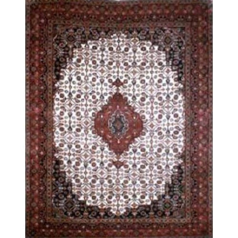 "Home Collection Afghani Style Oriental Hand-Knotted Rug with Natural Wool Area   6'5""  X  4'9"" ABCR02343"